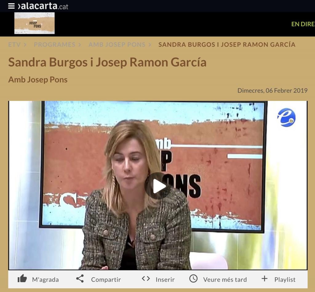 "Programa ""amb Josep Pons"""